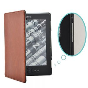 Обложка чехол Magnet Kindle Leather Cover Brown для Kindle 4 и Kindle 5