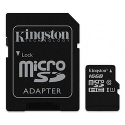 Карта памяти Kingston 16GB microSDHC class 10 UHS-I Canvas Select (SDCS/16GB)